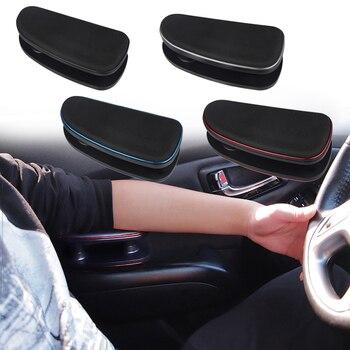 נהיגה נגד עייפות יד שמאל משענת סיליקון כרית תמיכה מסגרת שלוש-מהירות גובה מתכוונן רכב משענת יד שמאל מרפק תמיכה