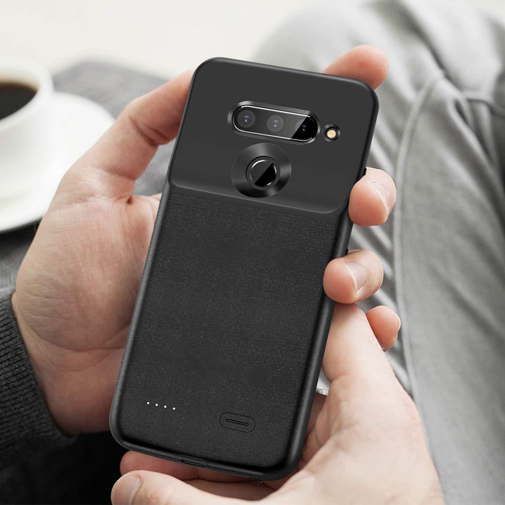 NEWDERY Battery Case for LG V40 ThinQ 5200mAh Slim Portable Power Charger Case For LG V40 thinQ