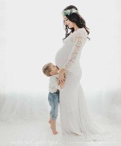 Image 5 - Del Merletto di fantasia Top Maternità Fotografia Puntelli Abiti Per Le Donne Incinte Vestiti Maternità Abiti Per Il Servizio Fotografico Wq14 Gravidanza Vestito