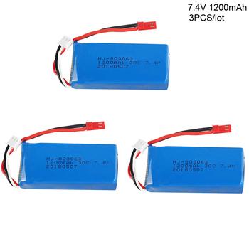 3 sztuk partia 7 4 V 1200 mAh li-po bateria do WLtoys V666 V262 V353 V333 V323 YiZhan Tarantula X6 MJX X101 X102h X1 H16 części zamienne tanie i dobre opinie AutoHotSA Materiał kompozytowy Baterii Bateria litowa Baterie litowo-polimerowe 69*30*18mm error 0-3mm Pojazdów i zabawki zdalnie sterowane