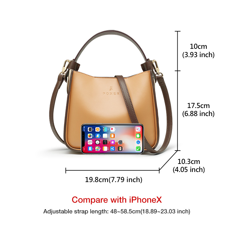 FOXER 2019 NEW Fashion Leather Bucket Bag for Women Stylish High Quality Lady Messenger Bag & Shoulder Bags Valentine's Day Gift 3
