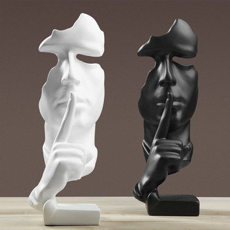Nordic Style Men Figurines Statue Fashion Human Statue sculpture Ornament Home Decoration Accessories Figurine Statue