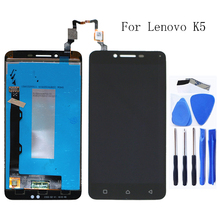 مناسبة لينوفو K5 A6020 LCD رصد اللمس شاشة مكون استبدال أجزاء لينوفو K5 شاشة LCD مراقب شحن مجاني