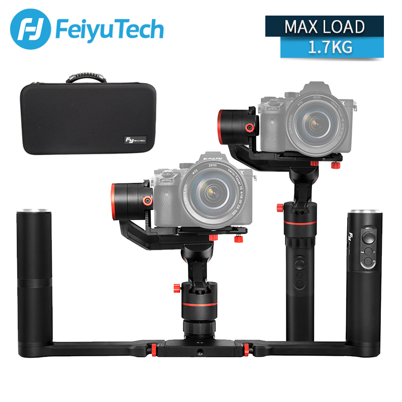 FeiyuTech a1000 Cardano Stabilizzatore Tenuto In Mano per NIKON SONY CANON Mirrorless Macchina Fotografica Gopro Action Cam Smartphone 1.7 kg di Carico Utile