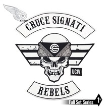CRUCE SIGNATI COLORS Motorcycle skull Patch embroidery iron on punk patches for jacket stickers genc riders turkiye custom motorcycle biker vest patch punk iron on embroidery patches free shipping