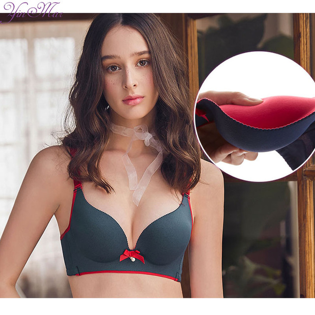 4d49c3c965c YinMar 2018 Wire free Bra 85AB Thick Cup Women Bra Comfortable Breathable Sujetadore  Mujer Push up Bra bh Bras for Women 541