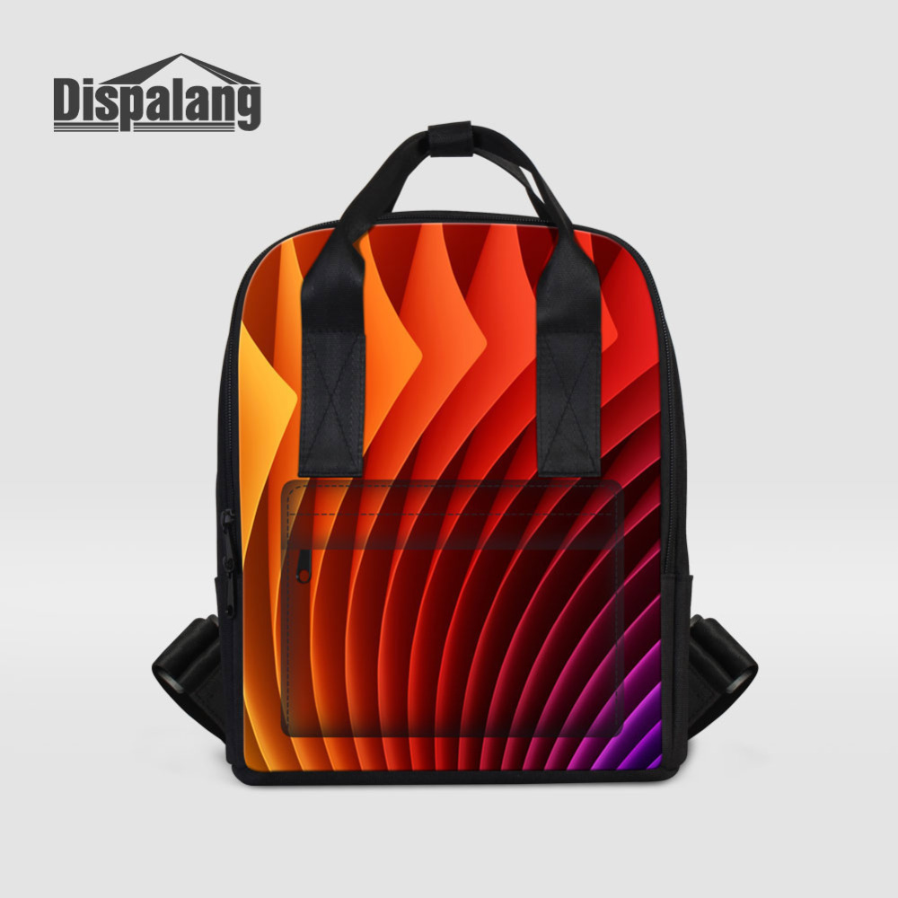 Dispalang Orange Women Backpack Fruits Print Laptop Backpack Female School Bag Girls College Student Casual Travel