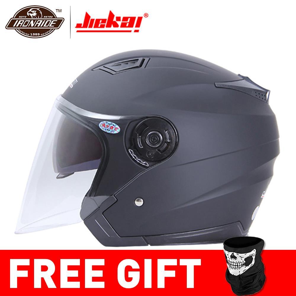 JIEKAI casque Moto Face ouverte Capacete casque Moto Motocicleta Cascos Para Moto course Moto Vintage casques