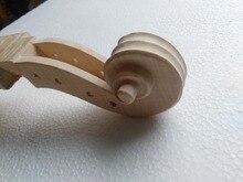 2 Stücke Ahorn Violine Kopf 4501 # Unfinished Weiß Ahorn Violine neck 4/4