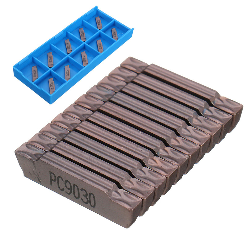 10pcs MGMN200-G LDA Carbide Insert For MGEHR/MGIVR Grooving Cut Off Tool Suitable For MGEHR1010-2