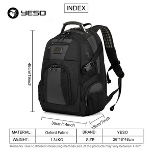 Image 2 - YESO Large Capacity Laptop Backpack Men Multifunction Waterproof 15.6inch Backpack For Teenagers Business Casual Travel Backpack