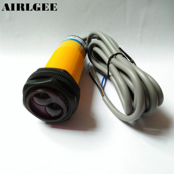 E30-R4PA PNP NC 3-Wires 1-4m Sensor Photoelectric Switch DC 10-36V w Reflector
