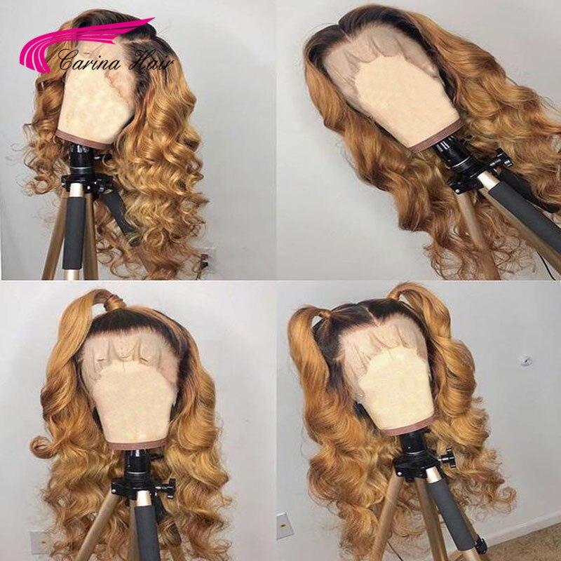 카리나 긴 허니 금발 브라질 레미 곱슬 전체 인간의 - 인간의 머리카락 (검은 색) - 사진 4