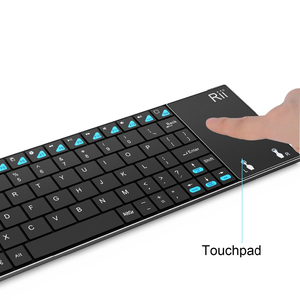 Image 2 - English Keyboard Rii mini K12+/i12+ Wireless Keyboard and  K12+ Bluetooth Keyboard with Touchpad mouse for PC Tablet Android