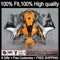 Bodys Orange Black For HONDA CBR600RR 2007 2008 F5 07 08 26JK22 Silver Blk CBR600 RR