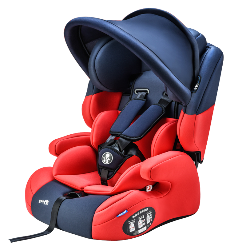 Child Safety Car Seat Baby Booster Carseat with Sunshade Five Point ISOfix Harness Toddler Infant Car Seat for Newborn Kids 9-12 bao baozhu child safety seat isofix infant car seat car seat september 12 year old germany