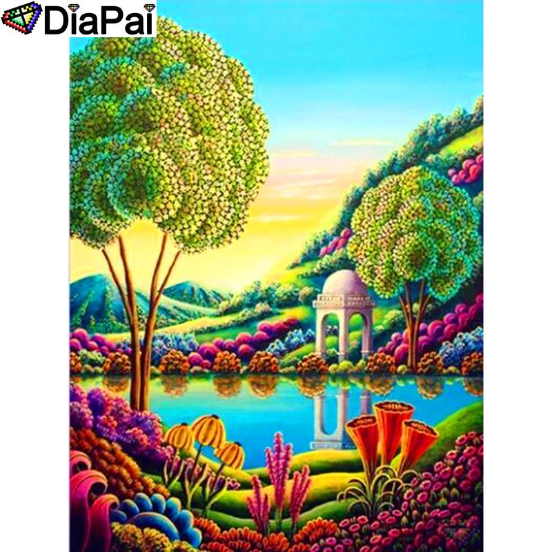 DIAPAI 100% Full Square/Round Drill 5D DIY Diamond Painting \