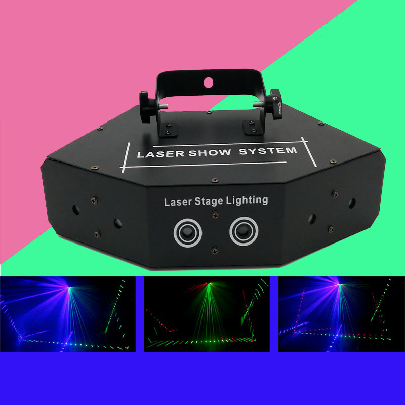 6 Lens Scanning Laser Light DMX RGB Full Color Laser Light Home Party DJ KTV Nightclub Projector Great Effects Stage Lighting