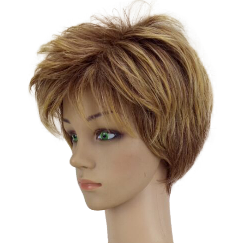 HAIRJOY Γυναίκα Ξανθιά Μικτή Σύντομη - Συνθετικά μαλλιά - Φωτογραφία 3