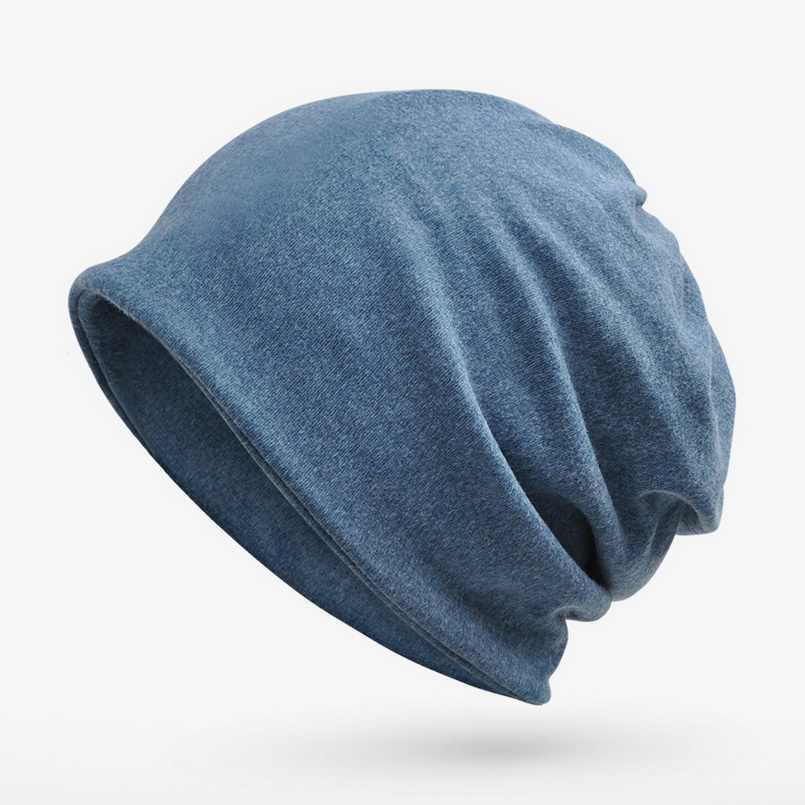 Marka NUZADA Örme Kapaklar Şapka Sonbahar Kış Sıcak Tutmak Erkekler Kadınlar Hedging Kap Skullies Beanies Bonnet Pamuk Çift Katmanlı