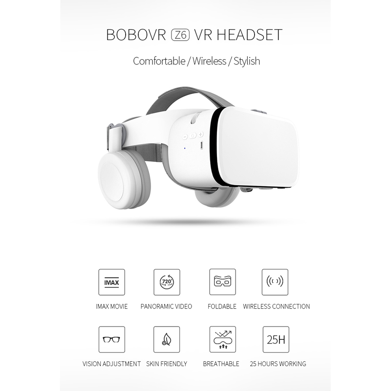 bobo vr z6 virtual reality 3d glasses helmet headset for iphone and android smartphones