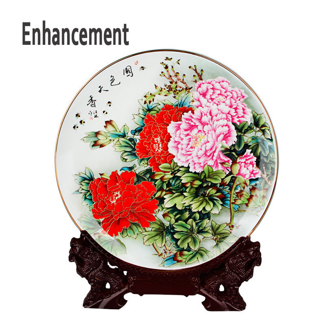 High Quality Fine Bone China Decoration Plate Chinese Style Ceramic Plate Wood Base Porcelain Bedroom Art  sc 1 st  AliExpress.com & High Quality Fine Bone China Decoration Plate Chinese Style ...