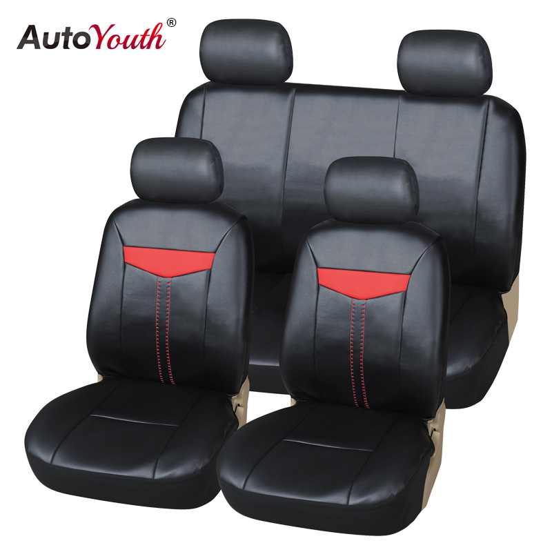 AUTOYOUTH Luxury PU Leather Car Seat Cover Full Set Universal Fit Most cars for Toyota Lada Renault Audi Peugeot VW Mazada Ford цены