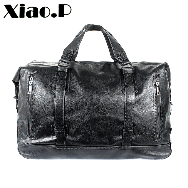 47191cc6bc5c Leisure High Quality Small Business Men pu leather travel duffle bag sac de  voyage Coss body
