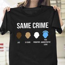 0c53d1420 Colin Kaepernick Same Crime Life 15 Years Probation T Shirt Black Men Cool  Casual pride t