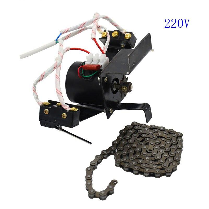 1 conjunto incubadora automática ovo que gira o motor denso dos ovos da volta industrial da corrente do sistema 220 v/110 v 100cm com