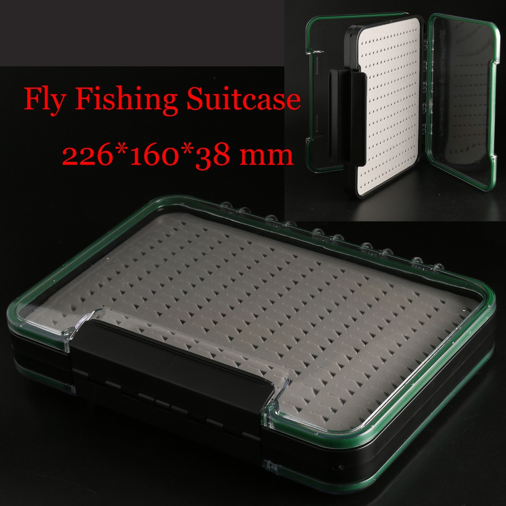 Maximumcatch Fly Box Waterproof Slit Foam High Density ABS plastic Fly Fishing Tackle Box maxcatch fly fishing box with foam waterproof large room fishing suitcase