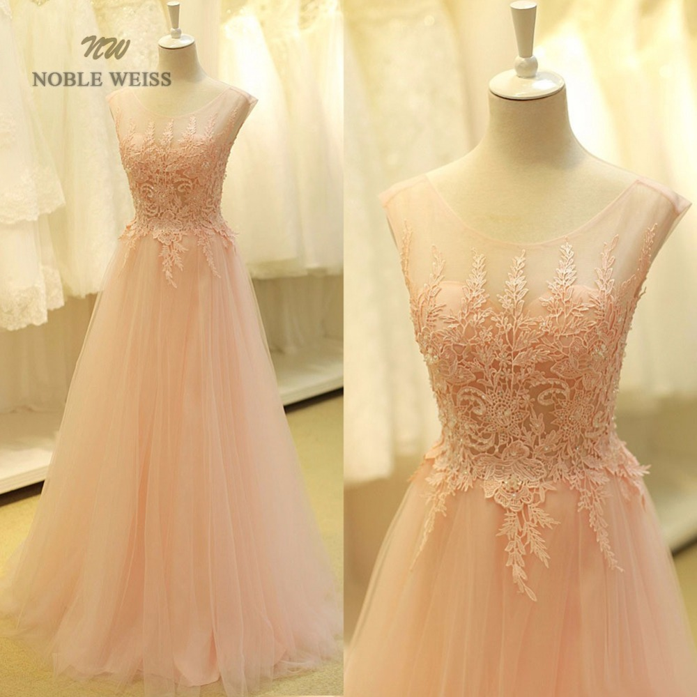 prom     dresses   2019 sexy o-neck a-line sweep train tulle lace   prom     dress   bare back cheap   prom   gown robe de soiree party   dress