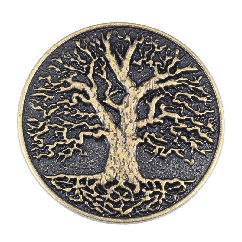 The Tree Belt Buckle Lush Tree Round Buckle Alloy Belt Accessories