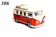 AIBOULLY 306 Creador de la serie Volkswagen T1 Camper Van Modelo Building Blocks classic Compatible con 10220 Technic Juguetes coche