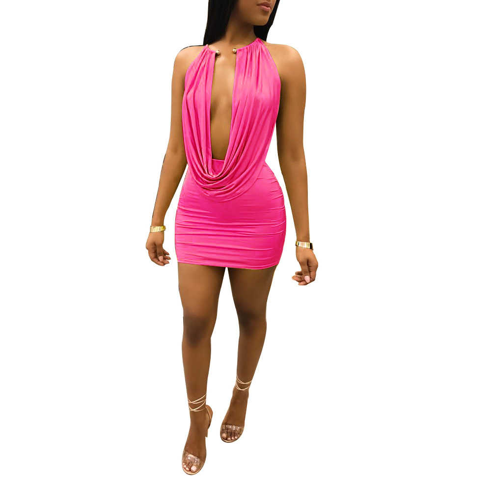 Hollow Out Party Bodycon Bandage Dress Women 2018 Off Shoulder Choker Long Mini Dress Sexy Backless Autumn Dress