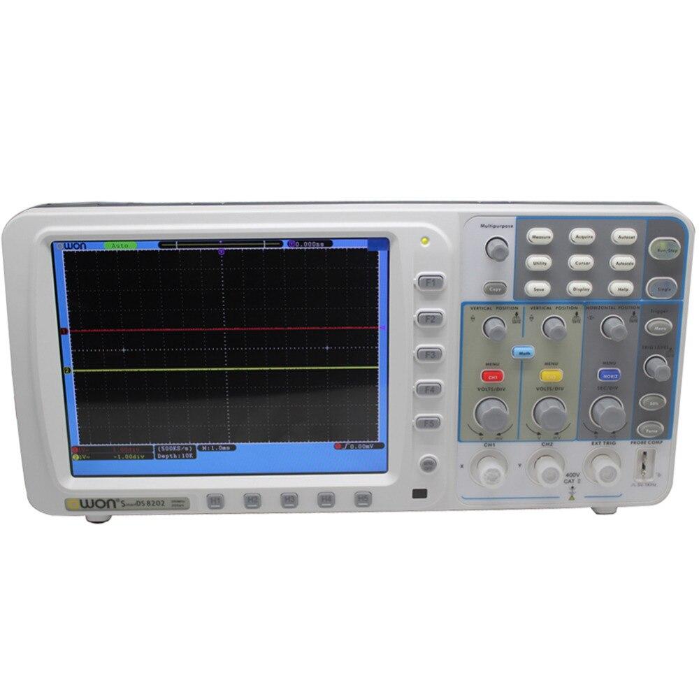 OWON Newest low-noise OWON SDS8202 8 HD TFT Digital Oscilloscope 200MHz 2GS/s 10M осциллограф owon hds1021m