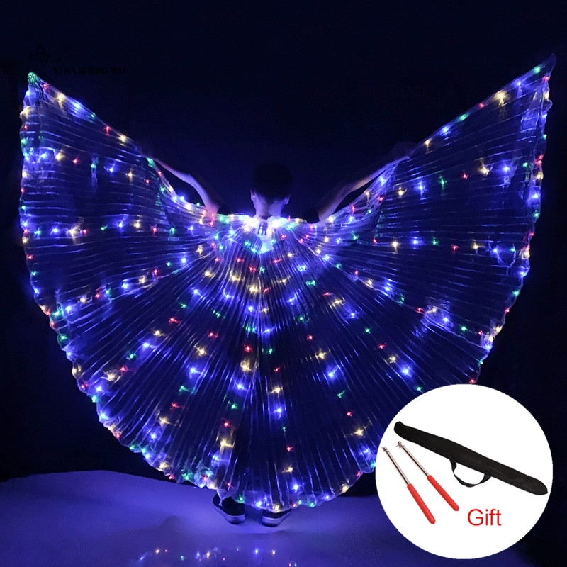 Hot-Selling Bellydancing LED Isis Wings Nice Oriental Dance Accessory LED Wings Sexy Stage Show Props Wings 5 Colors Available