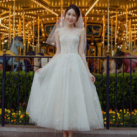 Simple Wedding Dresses 2019 Charming Dress Lace Up Wedding Gowns Ball Gown Vestido De Noiva White Ivory Bride Dress