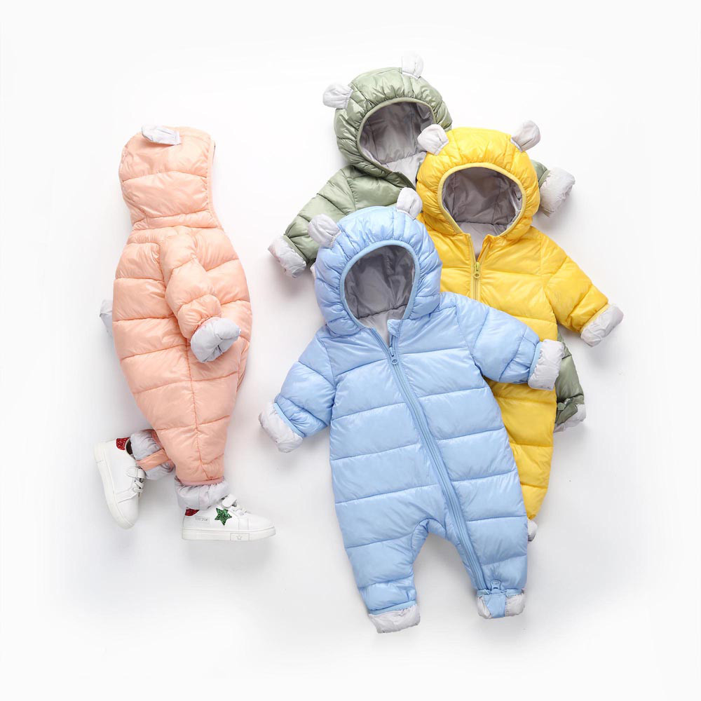 MUQGEW Baby Boys Girl Clothing Kid Rompers Children Winter Thick Cotton  Warm Clothes Jumpsuit for newborns clothes winter