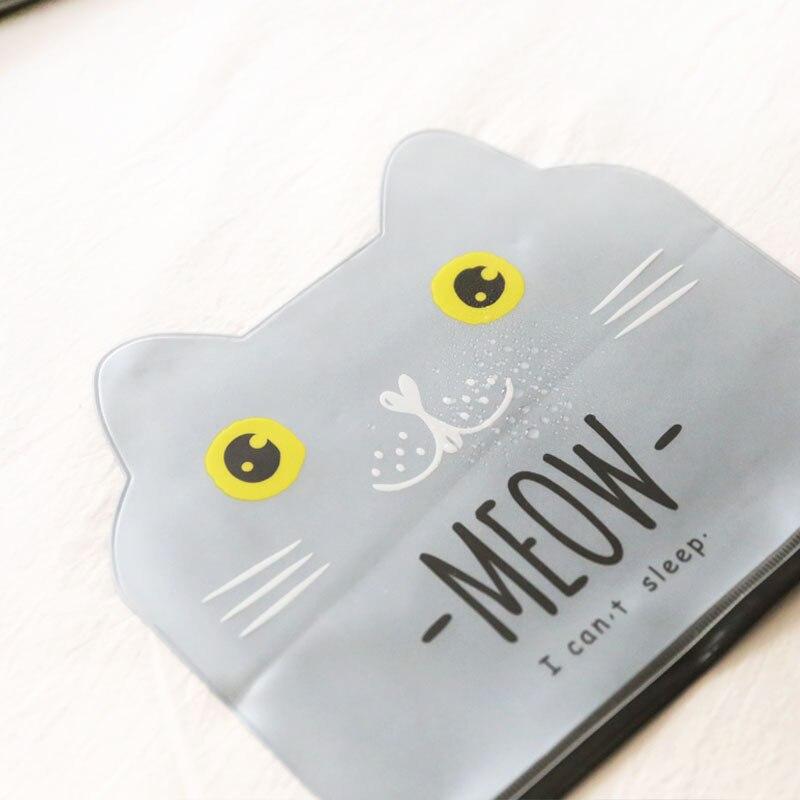 0991 cat storage bag creative cartoon translucent grit waterproof file bag