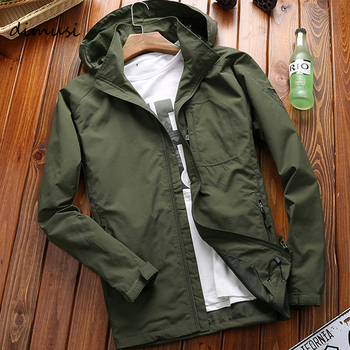 DIMUSI Autumn Men's Thin Jacket Male Casual Overcoat Army Tactics Windbreaker Jacket Mens Waterproof Breathable Hooded 6XL,TA205 Others Men's Fashion