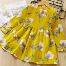 цена на 2019 Girls Dress Brand Princess Dresses Autumn Long Sleeve Print Girl Kids Dress Children Clothes for 3 7 Years Spring Dress