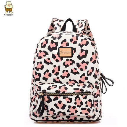 Back pack kpop fashion brand pu leather leopard backpack women stylish  printing backpack school bags backpacks for teenage girls
