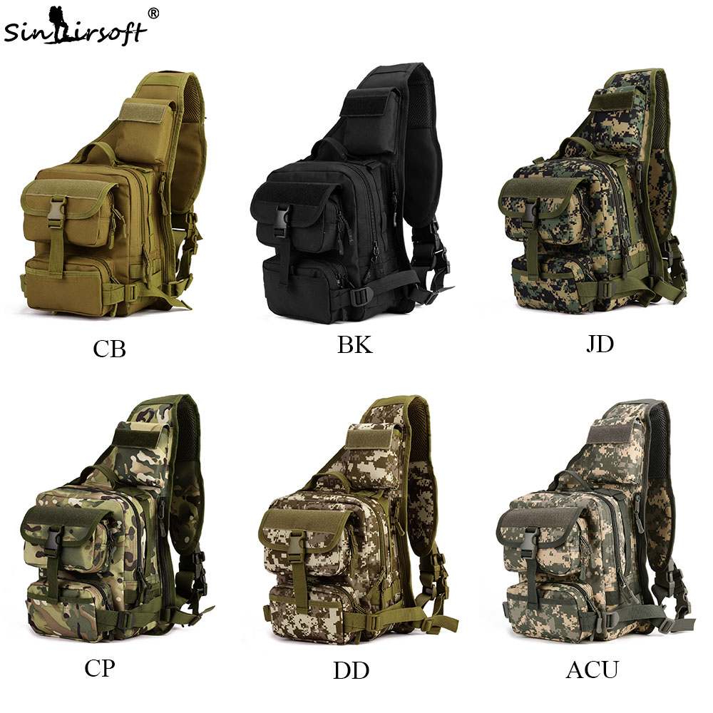 Sports & Entertainment Camping & Hiking Sinairsoft Military Tactical Chest Pack Fly Equipment Nylon Wading Chest Pack Cross Body Sling Single Shoulder Bag Ly0014