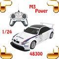 Regalo de año nuevo Rastar 1/24 M3 RC Racing juguetes modelo de vehículo automóvil pequeña máquina de carreras Drift velocidad de la luz juguetes para niños niño chico