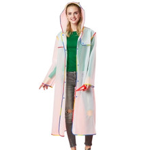 Transparent Women Long Raincoat Plastic Parka Windbreaker Raincoat Men Cover Rain Poncho Chamarra Mujer Women Rainwear 5R170(China)