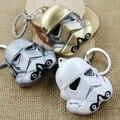 3 colores Modelo de Star Wars storm trooper StormTrooper Helmet Figura Juguetes Llavero colgante Máscara de Darth Vader superhero Llavero