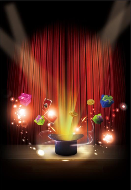 5x7ft Spot Light Magician Magic Parlor Hat Stage Custom