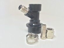 Ball Lock Homebrew Keg Tap - Beer Out w/ Male Flare Fitting -World Free Shipping