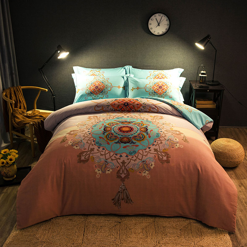 Chinese Traditional Pattern Bedding Sets Full Queen King